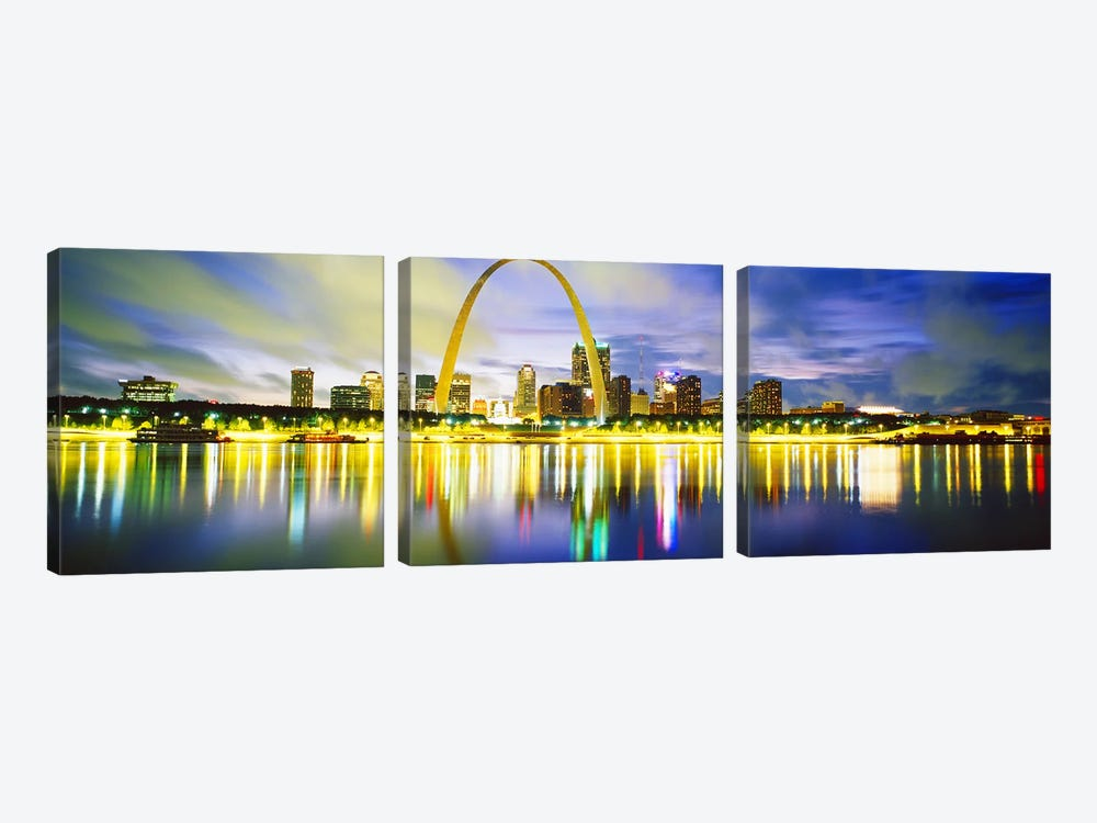 EveningSt Louis, Missouri, USA by Panoramic Images 3-piece Canvas Art Print