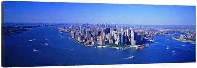 Aerial Lower Manhattan New York City NY Canvas Art Print