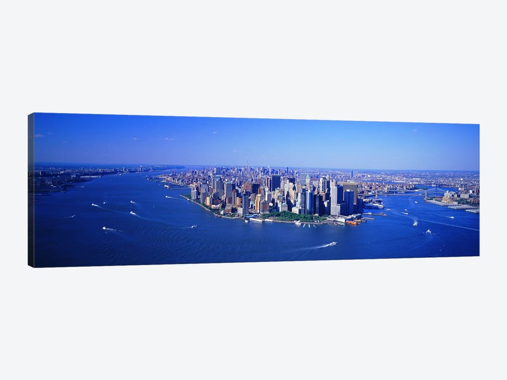 Aerial Lower Manhattan New York City NY by Panoramic Images 1-piece Canvas Art