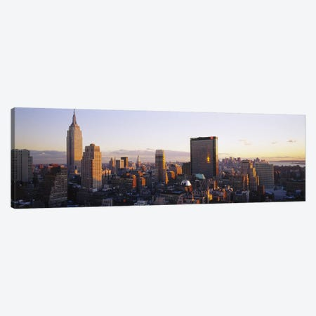 Buildings in a city, Manhattan, New York City, New York State, USA Canvas Print #PIM3707} by Panoramic Images Canvas Art