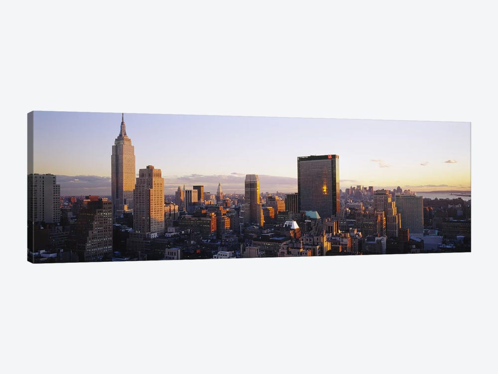 Buildings in a city, Manhattan, New York City, New York State, USA by Panoramic Images 1-piece Canvas Wall Art