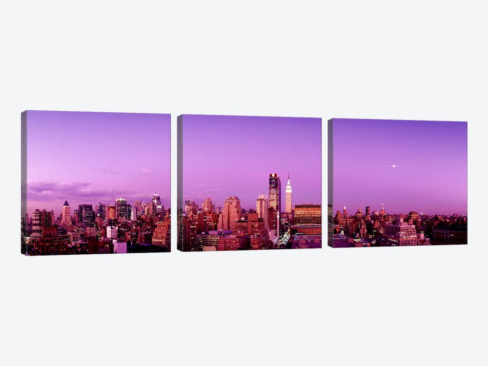Midtown NYC, New York City, New York State, USA by Panoramic Images 3-piece Canvas Print