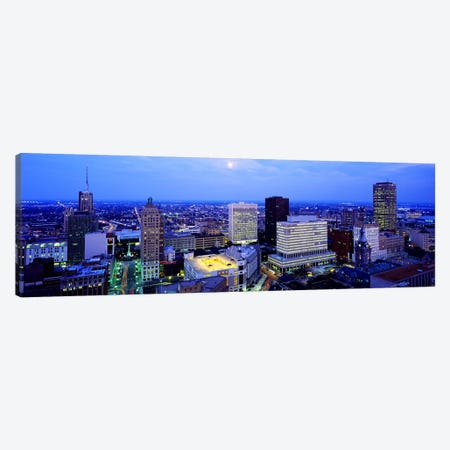 Evening, Buffalo, New York State, USA Canvas Print #PIM3709} by Panoramic Images Art Print