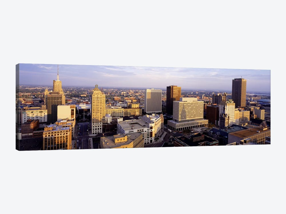 Downtown Skyline, Buffalo, Erie County, New York, USA by Panoramic Images 1-piece Canvas Artwork