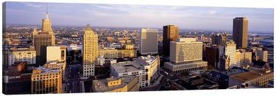Downtown Skyline, Buffalo, Erie County, New York, USA Canvas Art Print