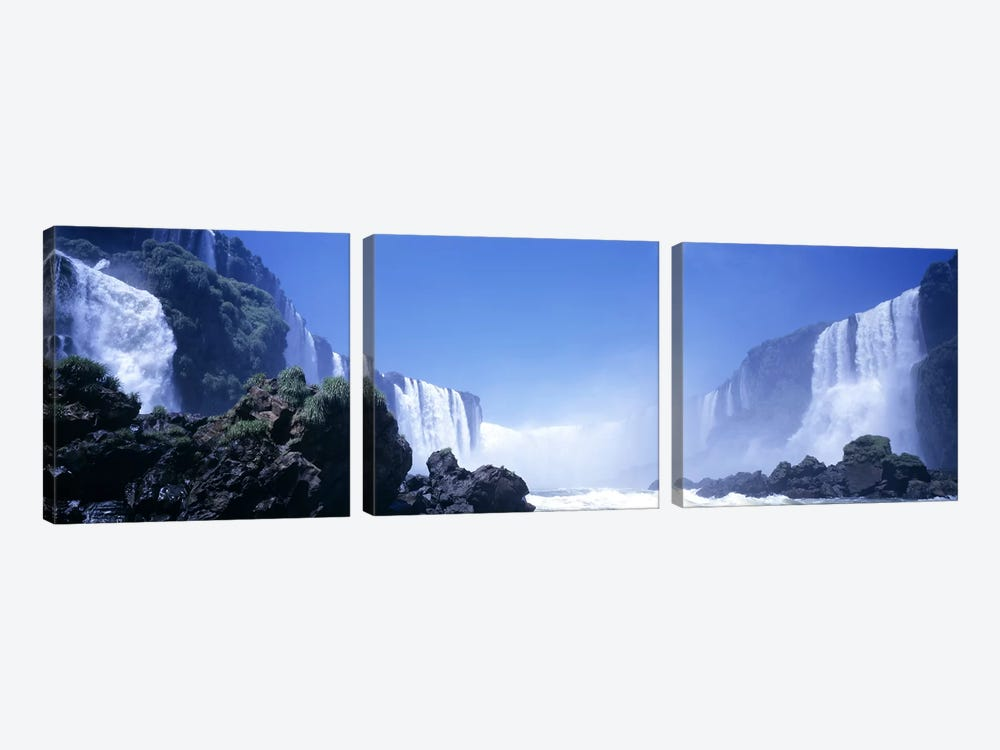 Iguassu Falls, Parana, Brazil by Panoramic Images 3-piece Canvas Artwork