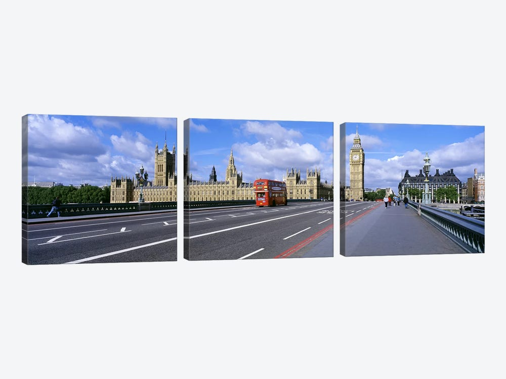 Parliament Big Ben London England 3-piece Canvas Artwork