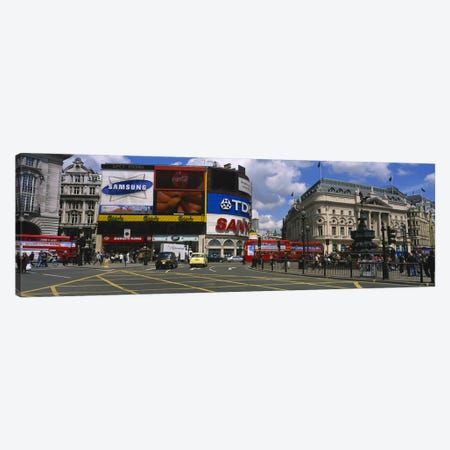 Daytime Scene I, Piccadilly Circus, London, England, United Kingdom Canvas Print #PIM3716} by Panoramic Images Canvas Art Print