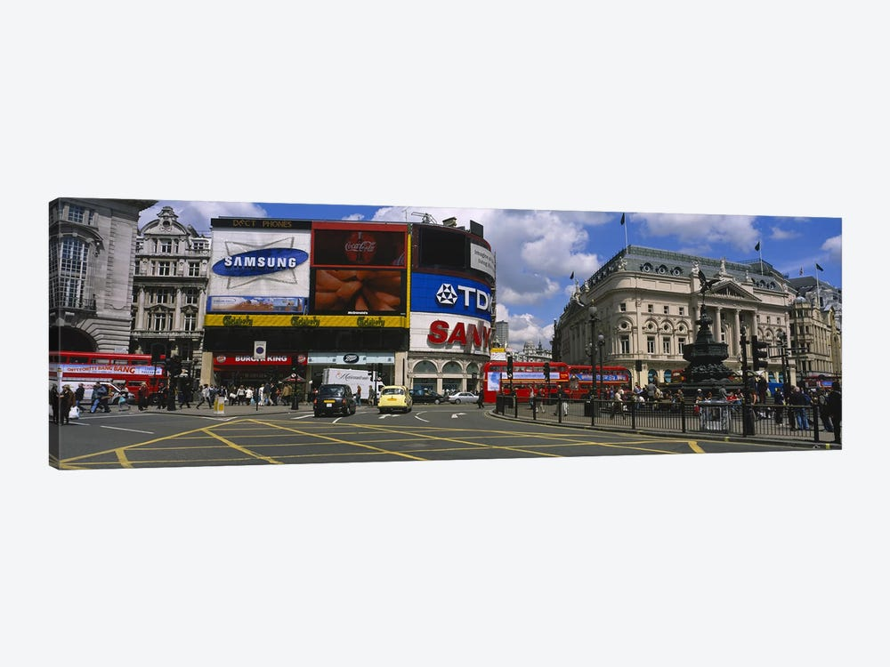 Daytime Scene I, Piccadilly Circus, London, England, United Kingdom by Panoramic Images 1-piece Canvas Art