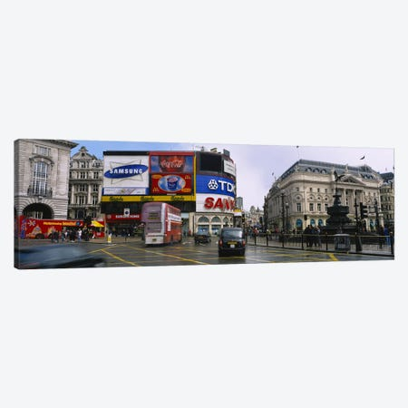Daytime Scene II, Piccadilly Circus, London, England, United Kingdom Canvas Print #PIM3717} by Panoramic Images Art Print