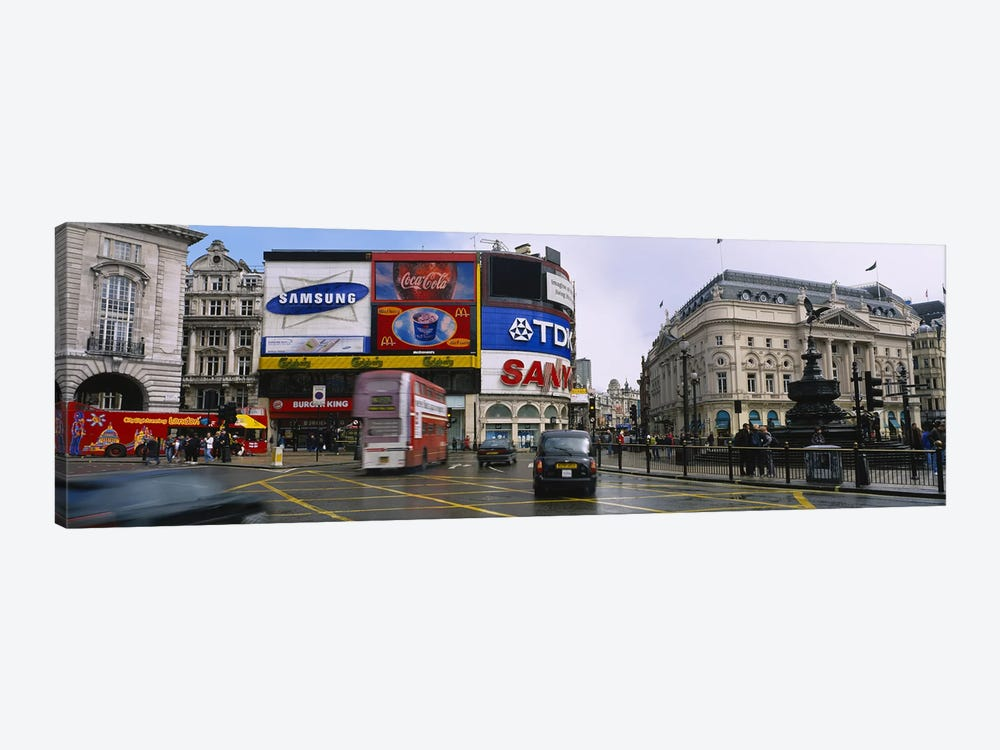 Daytime Scene II, Piccadilly Circus, London, England, United Kingdom by Panoramic Images 1-piece Canvas Print