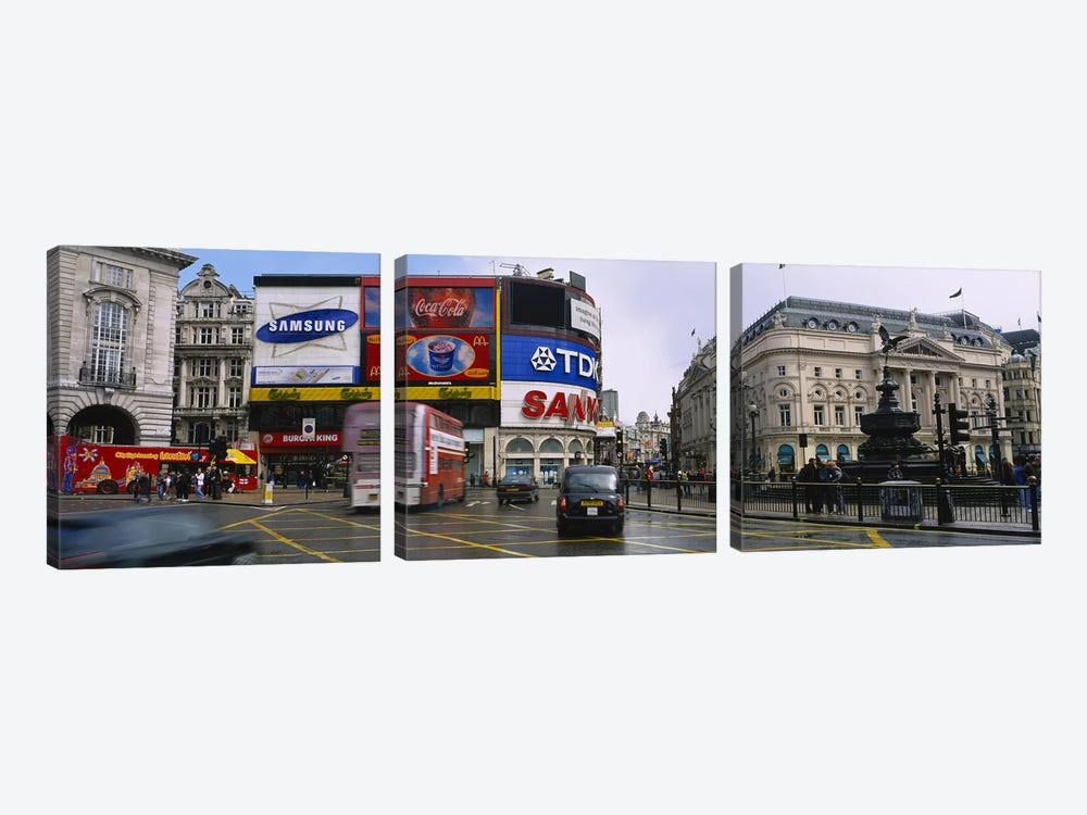 Daytime Scene II, Piccadilly Circus, London, England, United Kingdom by Panoramic Images 3-piece Art Print