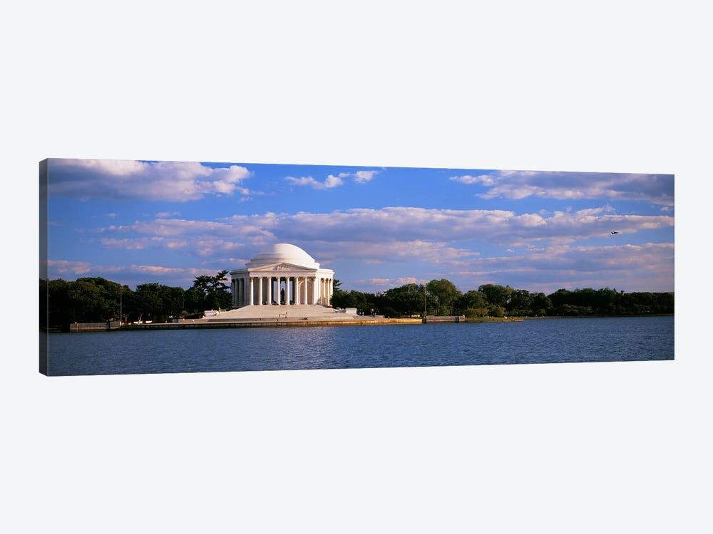 Monument On The Waterfront, Jefferson Memorial, Washington DC, District Of Columbia, USA by Panoramic Images 1-piece Canvas Artwork