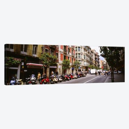 Street Scene Barcelona Spain Canvas Print #PIM3724} by Panoramic Images Canvas Artwork