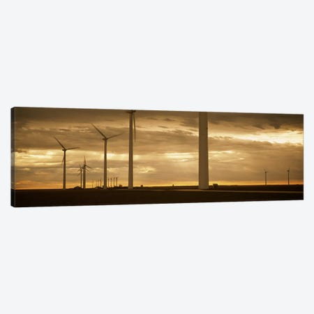 Wind Farm At Dawn, Near Amarillo, Texas, USA Canvas Print #PIM3727} by Panoramic Images Canvas Artwork