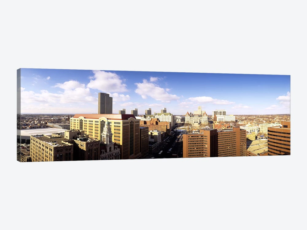 Cloudy Cityscape, Albany, New York, USA by Panoramic Images 1-piece Canvas Wall Art
