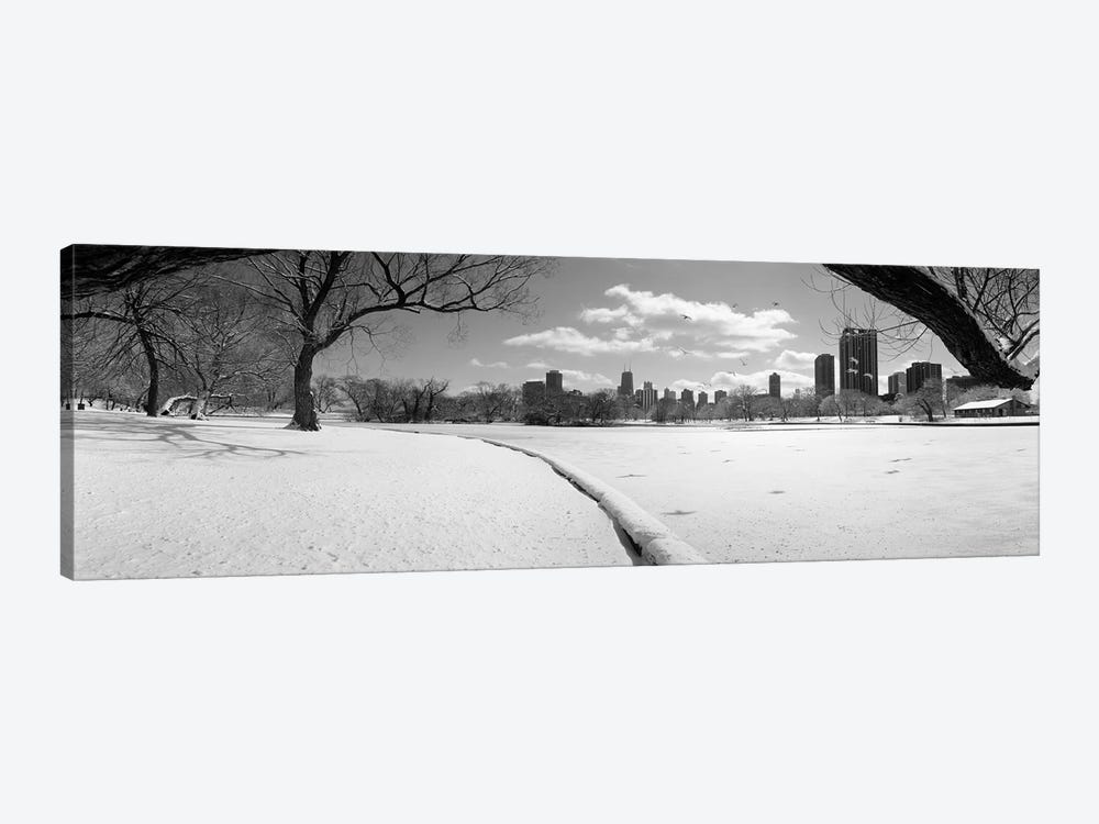 Buildings in a city, Lincoln Park, Chicago, Illinois, USA by Panoramic Images 1-piece Canvas Art Print