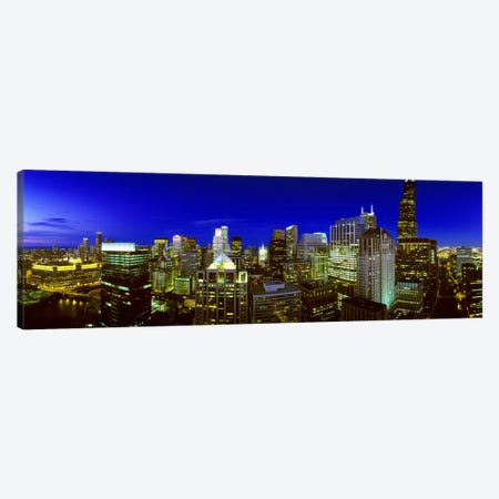 Evening Chicago Illinois Canvas Print #PIM3733} by Panoramic Images Canvas Art