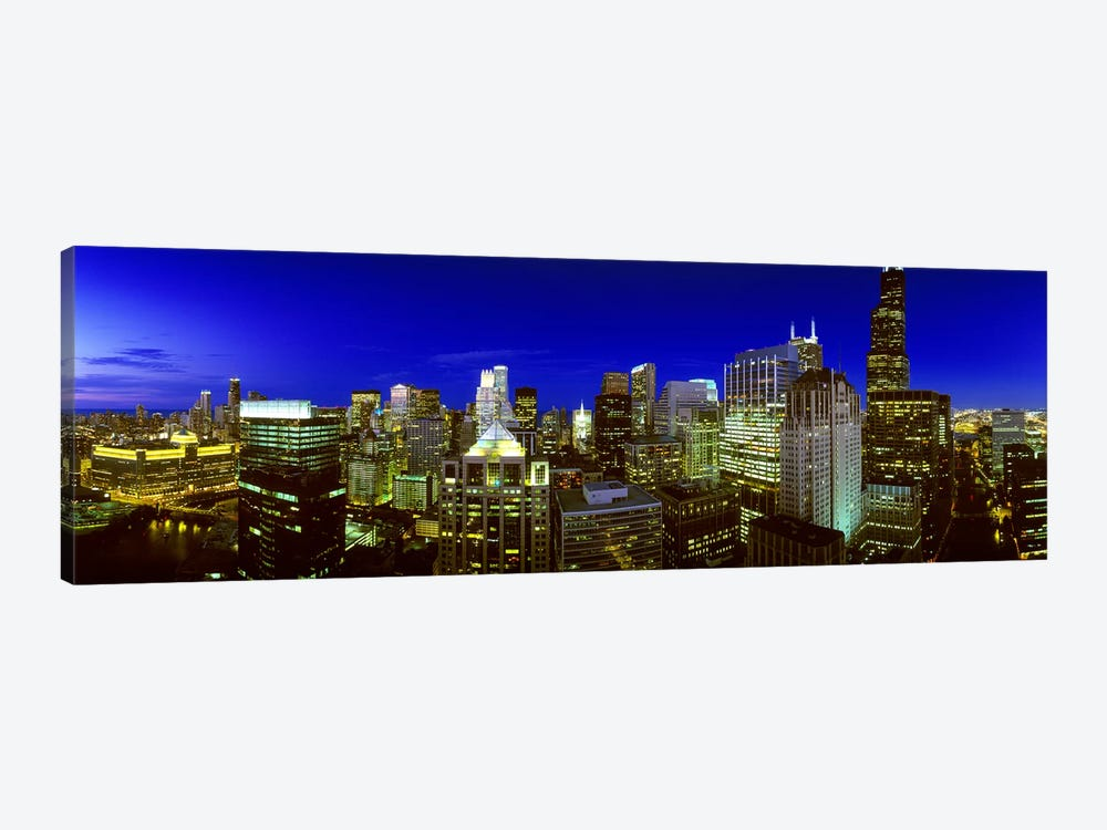 Evening Chicago Illinois by Panoramic Images 1-piece Art Print