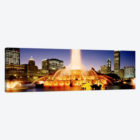 Buckingham Fountain At Dusk, Chicago, Cook County, Illinois, USA Canvas Print #PIM3734} by Panoramic Images Canvas Print