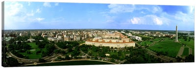 Aerial View Of The City, Washington DC, District Of Columbia, USA Canvas Print #PIM3735