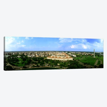 Aerial View Of The City, Washington DC, District Of Columbia, USA Canvas Print #PIM3735} by Panoramic Images Art Print