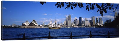 Downtown Skyline& Sydney Opera House, Sydney, New South Wales, Australia Canvas Art Print
