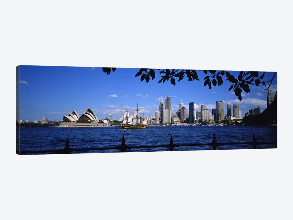 Downtown Skyline& Sydney Opera House, Sydney, New South Wales, Australia by Panoramic Images 1-piece Canvas Wall Art