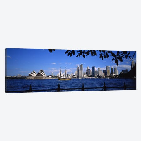 Downtown Skyline& Sydney Opera House, Sydney, New South Wales, Australia 3-Piece Canvas #PIM3745} by Panoramic Images Canvas Art