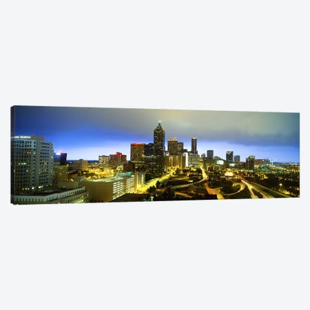 Evening Atlanta GA Canvas Print #PIM3748} by Panoramic Images Canvas Art Print