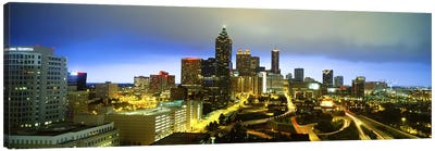 Evening Atlanta GA Canvas Art Print