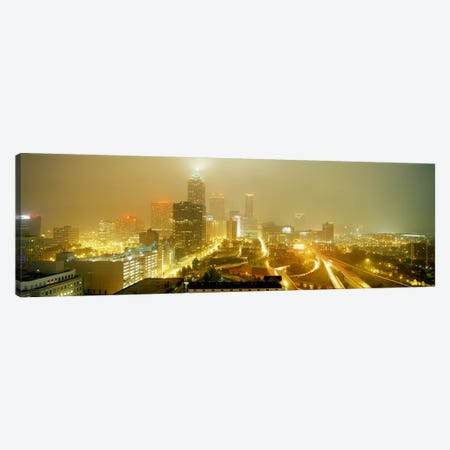 USA, Georgia, Atlanta, Fog in Atlanta Canvas Print #PIM3749} by Panoramic Images Canvas Print