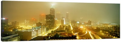USA, Georgia, Atlanta, Fog in Atlanta Canvas Art Print
