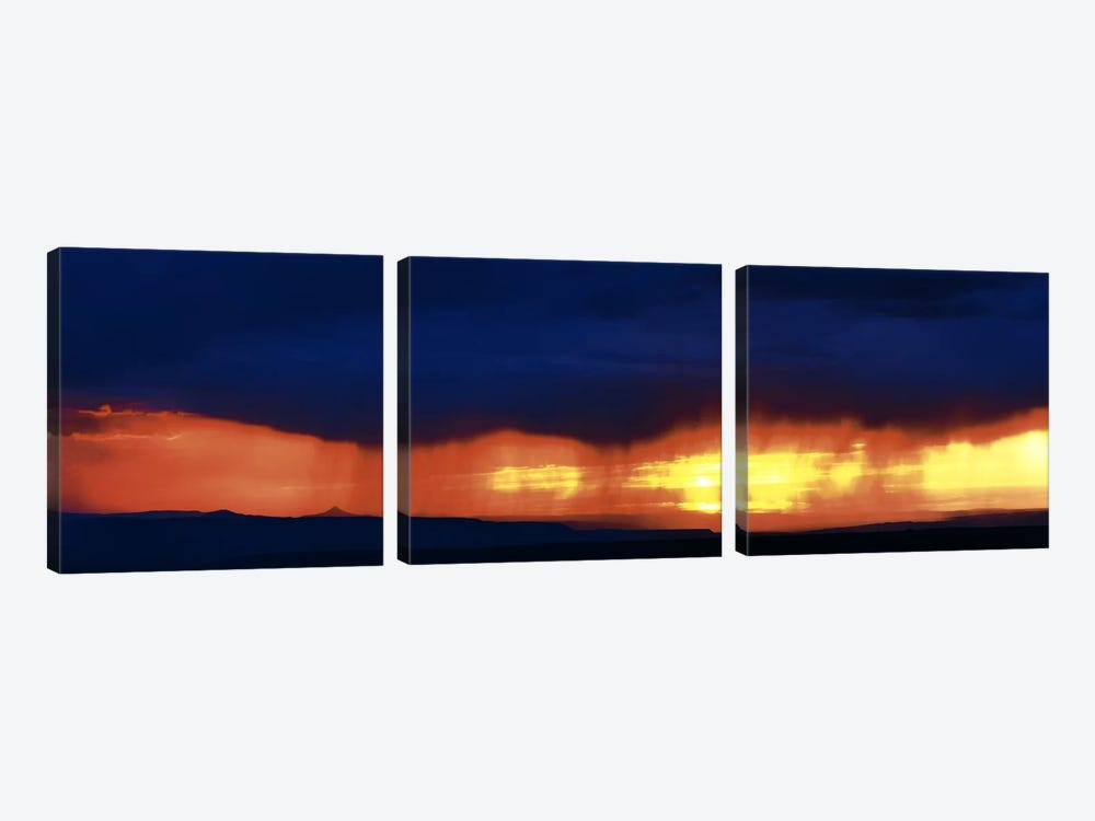 Storm along the high road to Taos Santa Fe NM by Panoramic Images 3-piece Art Print