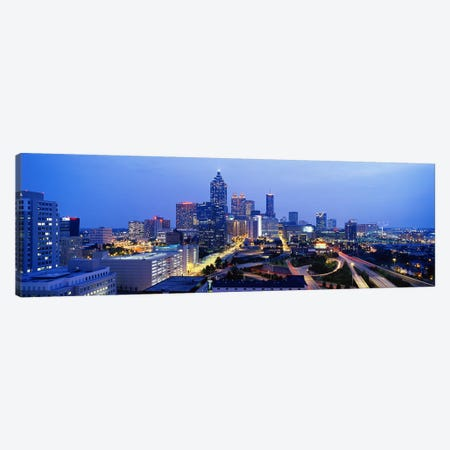 Evening In Atlanta, Atlanta, Georgia, USA Canvas Print #PIM3750} by Panoramic Images Canvas Art