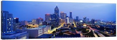 Evening In Atlanta, Atlanta, Georgia, USA Canvas Art Print