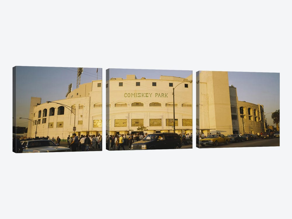 Facade of a stadium, old Comiskey Park, Chicago, Cook County, Illinois, USA 3-piece Canvas Artwork