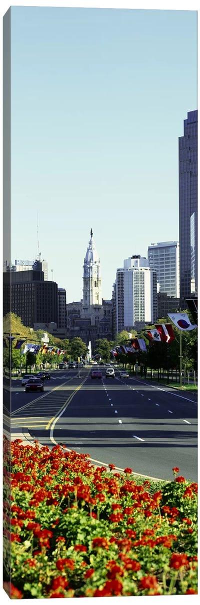 Buildings in a city, Benjamin Franklin Parkway, Philadelphia, Pennsylvania, USA Canvas Print #PIM3754