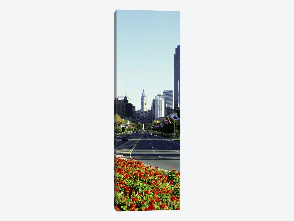 Buildings in a city, Benjamin Franklin Parkway, Philadelphia, Pennsylvania, USA by Panoramic Images 1-piece Canvas Artwork