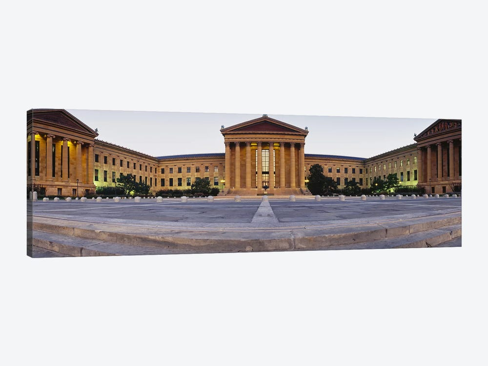 Facade of a museum, Philadelphia Museum Of Art, Philadelphia, Pennsylvania, USA by Panoramic Images 1-piece Canvas Art Print
