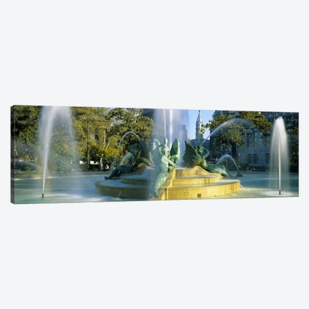 Fountain In Front Of A Building, Logan Circle, City Hall, Philadelphia, Pennsylvania, USA Canvas Print #PIM3757} by Panoramic Images Canvas Print