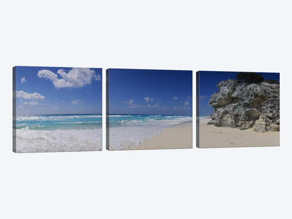 Coastal Landscape, Cancun, Quintana Roo, Mexico by Panoramic Images 3-piece Canvas Print