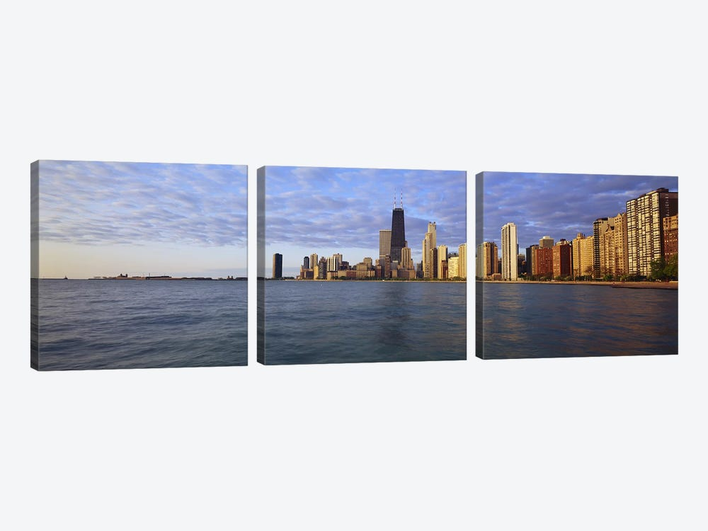 Lake Michigan Chicago IL by Panoramic Images 3-piece Canvas Print