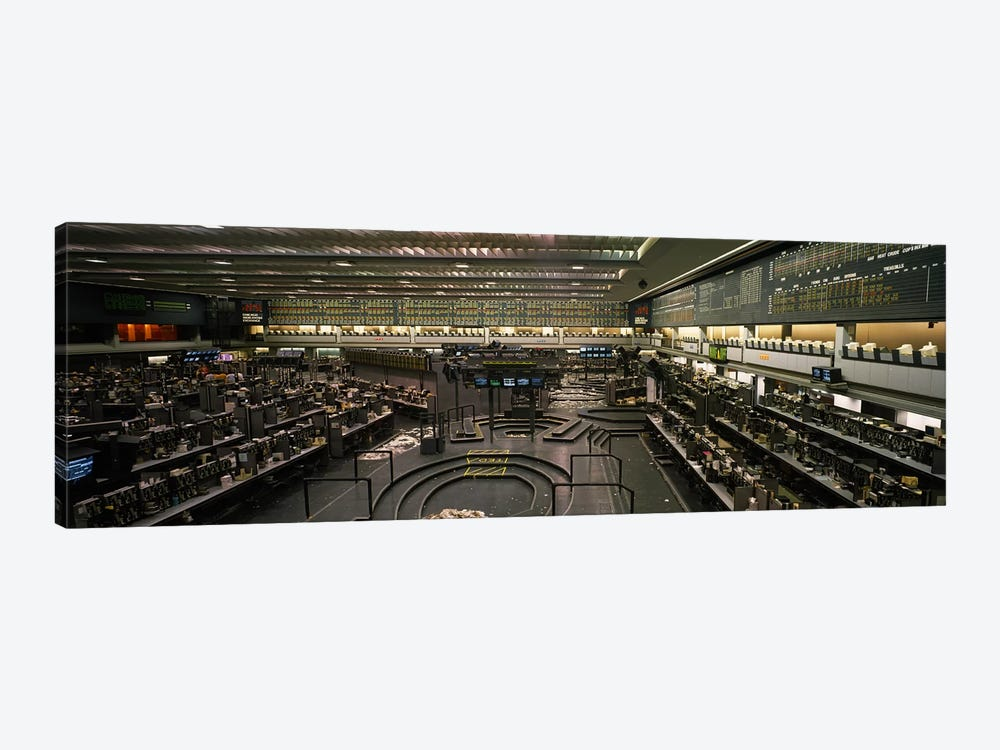 Empty Pits On The Trading Floor After Hours, Chicago Mercantile Exchange, Chicago, Illinois, USA by Panoramic Images 1-piece Canvas Artwork