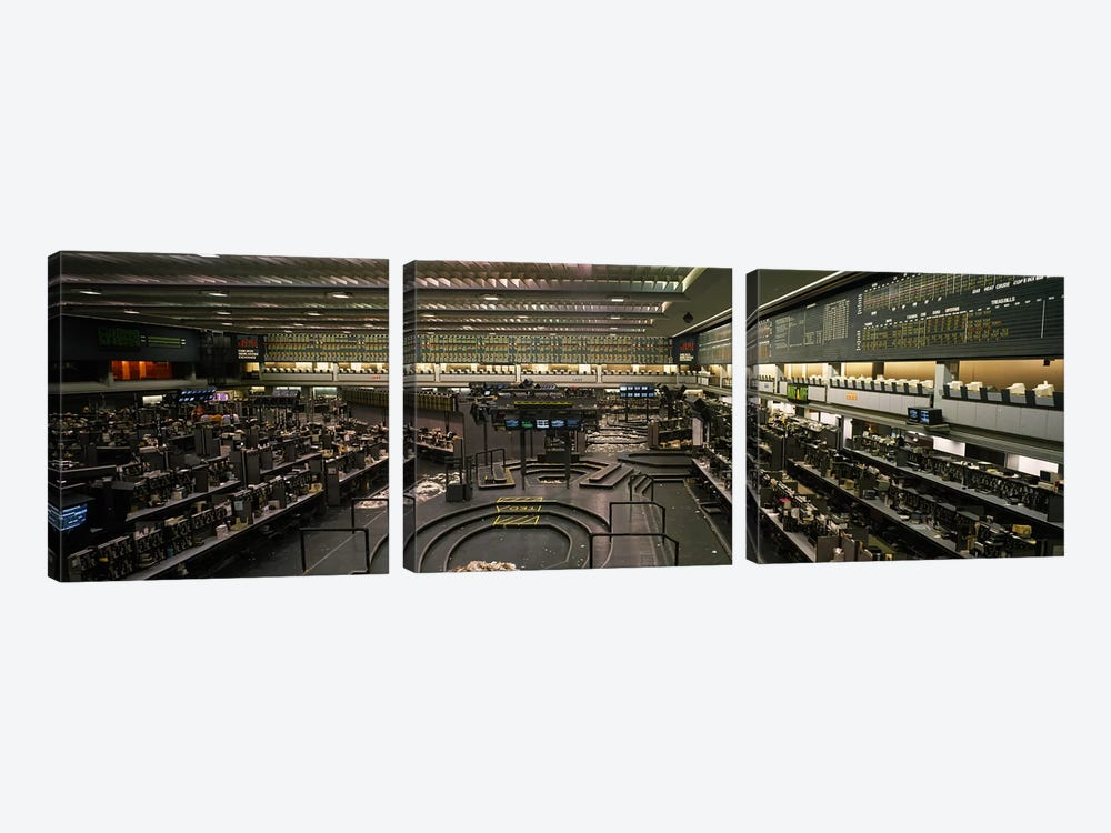 Empty Pits On The Trading Floor After Hours, Chicago Mercantile Exchange, Chicago, Illinois, USA by Panoramic Images 3-piece Canvas Art