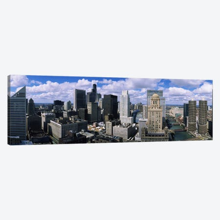 Aerial view of a riverChicago River, Chicago, Illinois, USA Canvas Print #PIM3764} by Panoramic Images Canvas Wall Art