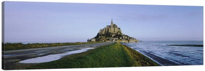 Church on the beachMont Saint-Michel, Normandy, France Canvas Art Print