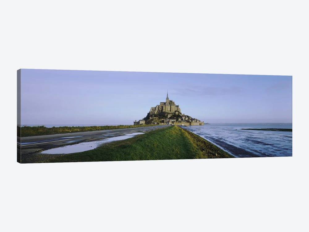 Church on the beachMont Saint-Michel, Normandy, France by Panoramic Images 1-piece Canvas Print