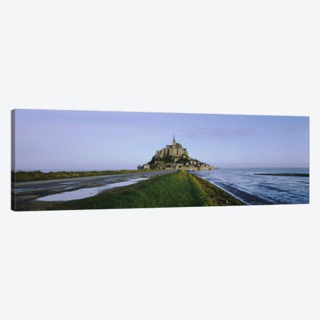 Church on the beachMont Saint-Michel, Normandy, France 3-Piece Canvas #PIM3768} by Panoramic Images Canvas Print