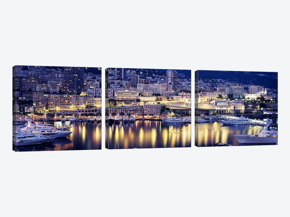 Harbor Monte Carlo Monaco by Panoramic Images 3-piece Art Print